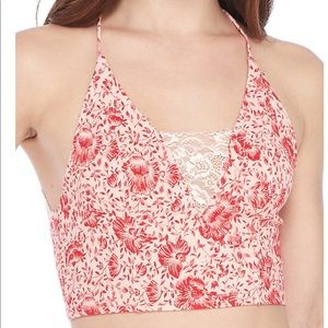 Free People Tops - Free People Century Bra Coral Red
